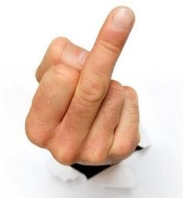 Wyciągnięty palec serdeczny