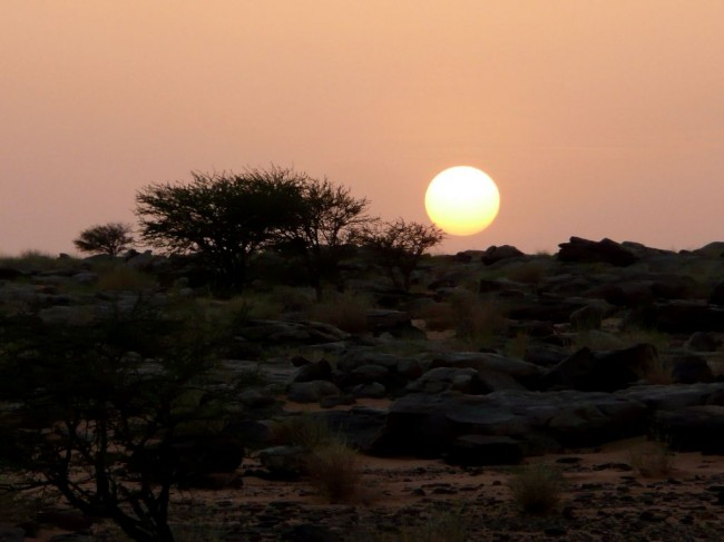 Zachód słońca w Afryce