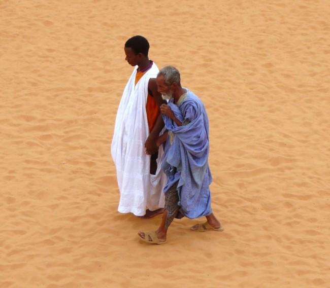Arabski pan i murzyński niewolnik