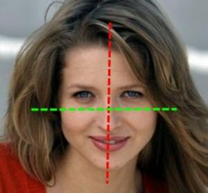 Linie podziału twarzy