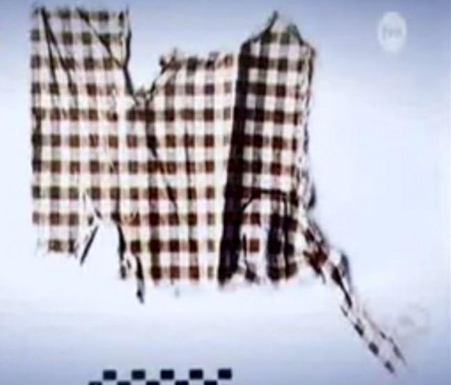 Szczątki ubrania Katarzyny